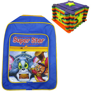 Blues Bag with 100 Pcs Art  Craft Sticks