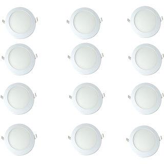 Otexlite Slim panel light 12 watt round with 2 year warranty Pack of 12
