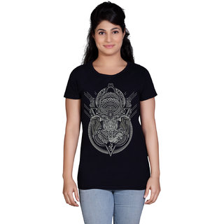 Tantra Om Ganesha - LT Multicolour Round Neck Longtees for Women