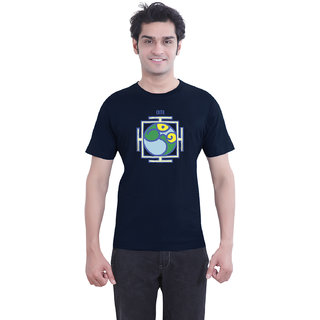TantraYantra Om - TA Navy Blue Crew Neck T-Shirt for Men