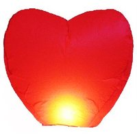 10 Chinese Fire Wishing Paper Wedding Birthday Party Heart Shape Sky Lantern @ Skycandle.in