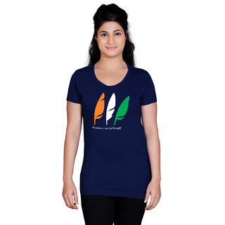 Tantra Feathers (Birth Right) - LT Multicolour Round Neck Longtees for Women