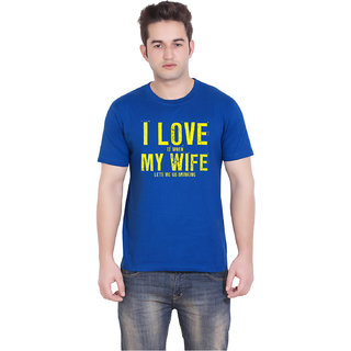 TantraLove my wife - LM Royal Blue Crew Neck T-Shirt for Men
