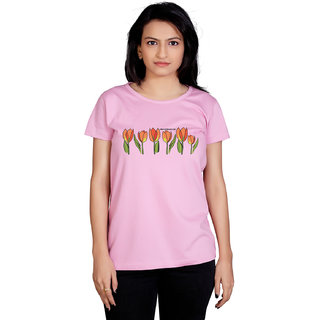 Tantra Tulips - LT Multicolour Round Neck Longtees for Women