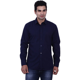 Wrangler Blue Roger Solid Shirt For Men