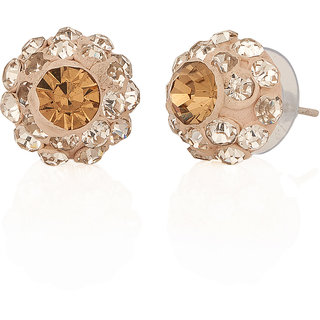 Stunning White Lac Stud Earrings