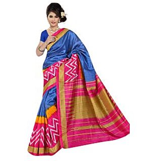 Lovely Look Blue  Multi Printed Saree LLKGPS5172