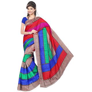 Lovely Look Multi Printed Saree LLKGPS5013