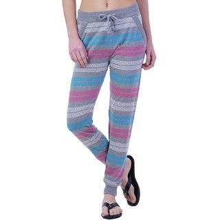 Wake UP Competition Melange Grey Self Design Women Track Pant for Summer Season