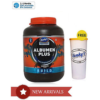 Venky's Albumen Plus 2 Kg Choclate With Free Shaker