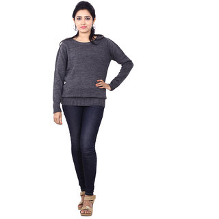 Wrangler Lilly Grey Sweaters For Women