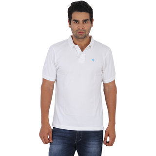 Wrangler White Colored Polo T-Shirt For Men