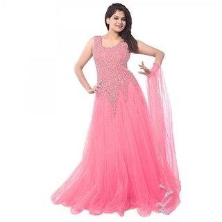a30a702f7a37 Buy suhana pink net gaun 006 Online   ₹599 from ShopClues