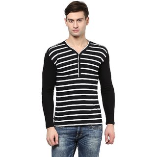 Hypernation Striped Men Henley T-shirt
