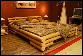 Kali Double Bed Set in Browon Color