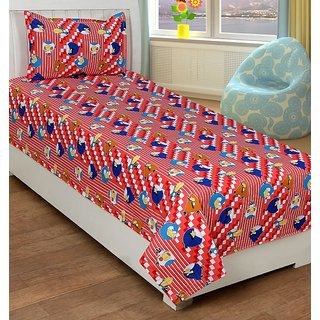 Trendz Cotton Kids Single Bed Sheet With A Pillow Cover Vi132