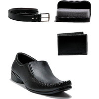 At Classic Men's Black Formal Shoes (Combo)