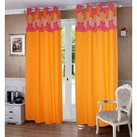 Lushomes Spiral Printed Bloomberry Cotton Curtains for Door (Single Pc)