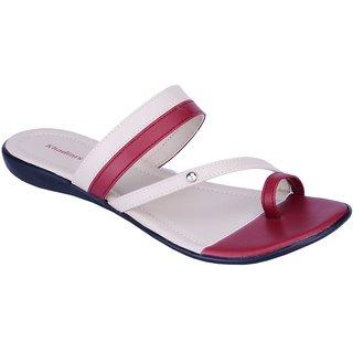 Khadims Maroon Red Slip-on Womens Flats