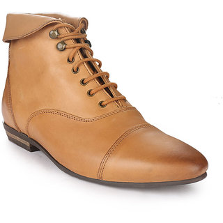 glety ankle length tan shoes