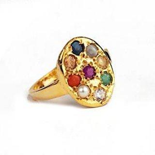 eci navratna 9 gemstone finger ring for