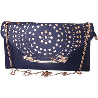 Lion Heart Claire Laser Party Clutch Blue