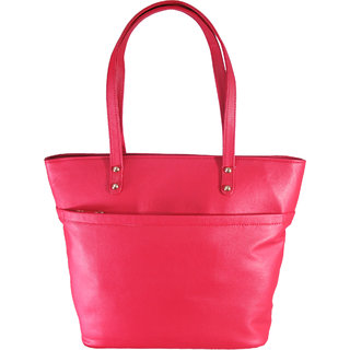 Lion Heart Trendy Red Work Tote Bag Red