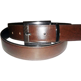 SANSHUL LEATHER BROWN  BLACK REVERSIBLE BELT FOR MEN SO-96