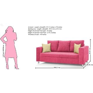 Groovy Westido Sofa Set In Pink Fabric 3 1 1 Without Cushions Inzonedesignstudio Interior Chair Design Inzonedesignstudiocom