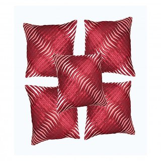 k.s.craft Maroon Cushion Covers