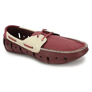 88443e483c2d KRISHNA SUIT AND SHOES Mens Loafer Groove D Wine Grey available at  ShopClues for Rs.