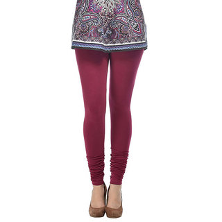 Aakriti Maroon Cotton Lycra Leggings