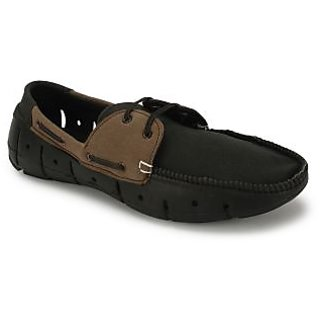 6a4aa21581b RADHA KRISHNAS Mens Loafer Groove D Black Brown available at ShopClues for  Rs.499
