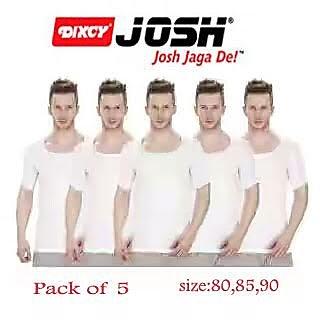 Dixcy josh Mens RNS Vest pack of 5 pc