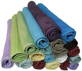 NDc Set of 20 Cotton Face Towel - Multi Color