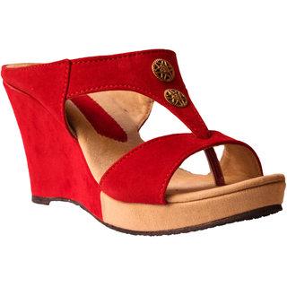 Hanx Women's Red Wedges