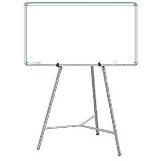 Nechams Combo Of White Board Magnetic 4 Ft X 3 With Easel Stand