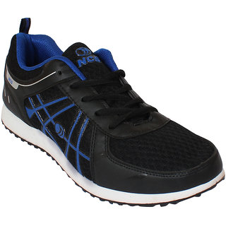 afb66bf262a2 Buy NCS Men s Black and Blue Stylish Training Shoes Online - Get 33% Off