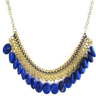 Fash Blush Forever New Blue Bead  Chain Alloy Necklace