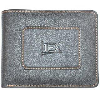 Imex Mens Modish Black Genuine Leather Wallet