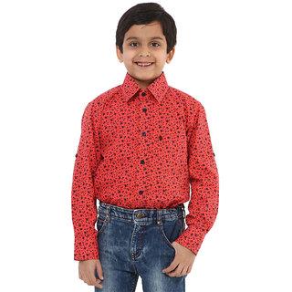 Oxolloxo Boys cotton red shirt