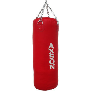 Axson Boxing Punching Kit Bag With Chain Empty 42, Red Color