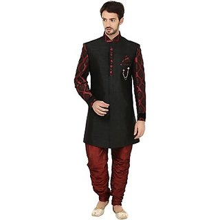 Khaan Saab Editions Contemporary Self Design Sherwani