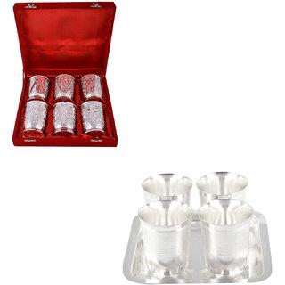 Gs Museum Silver Plated 6 Glass And Juli Diamond Glass Set(GSMCB482)
