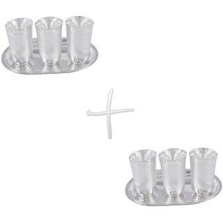 Gs Museum Silver Plated Juli Diamond Glass 2 Set(GSMCB063)