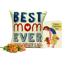 Best Mom Cushion With Wishful Card