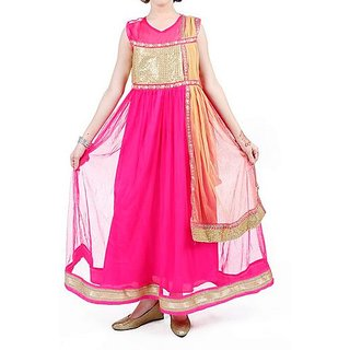 Wajbee Girls Long Net Frocks