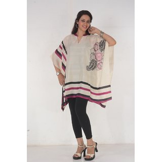 Omn Offwhite Handloom Silk Kaftan