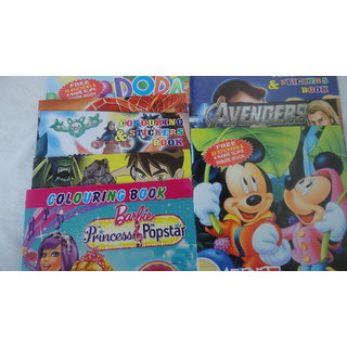 Buy Birthday Return Gifts Set Kids Favourite Cartoon Character Coloring Bookspack Of 12 Online