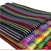 Birthday Return Gift Generic Set Of 12 Multicolors Transparent Nylon Zippered Plastic Mesh